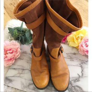 Anthropologie Shoes - CAMPER Suede and Leather Mid Calf Mixed Moto